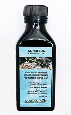 Cold pressed hemp oil (CANNABIS SATIVA)